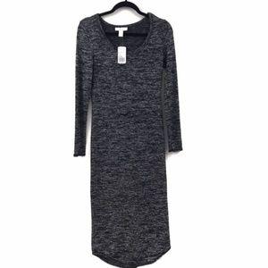 Forever 21 Black Gray Maxi Dress size Medium NWT
